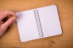 Male hand with notebook Royalty Free Stock Photos