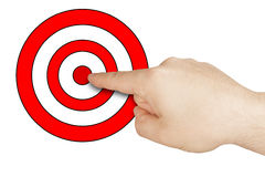 Male Hand Pointing Target Isolated Royalty Free Stock Images
