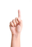 Male hand pointing on white background Royalty Free Stock Images