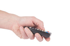Male Hand push a remote Royalty Free Stock Photography