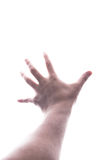 Male hand reaching out the light stock photos