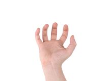 Male hand reaching for something. Stock Photography