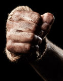 Male hand with rope. Conception aggression Royalty Free Stock Image