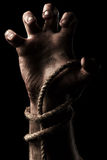 Male hand with rope. Conception aggression Royalty Free Stock Photography