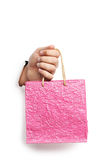 Male hand with shopping bag Stock Photography