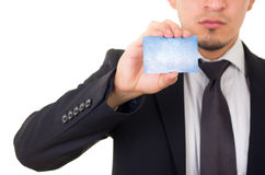 Male hand showing credit card Royalty Free Stock Images
