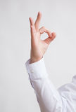 Male hand showing a OK sign Stock Images