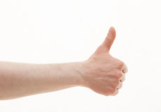 Male hand showing thumb up sign Stock Image