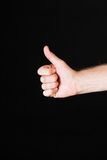 Male hand showing thumbs up Royalty Free Stock Photos