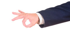 Male hand shows gesture Royalty Free Stock Photo