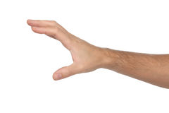 Male hand sign. Isolated on white Stock Photography