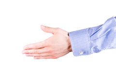 Male hand stretching for handshake Royalty Free Stock Photo