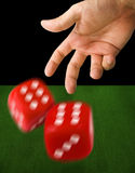 Male Hand Throwing Dice Royalty Free Stock Photo