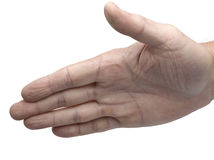 Male hand about to shake hands Royalty Free Stock Photography