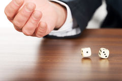 Male hand with two dices Stock Image
