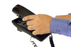 Male Hand Using Telephone Stock Photography