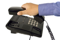 Male Hand Using Telephone Royalty Free Stock Photo