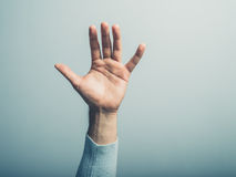 Male hand waving Royalty Free Stock Image