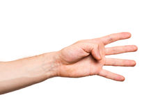 Male hand on white background Royalty Free Stock Image