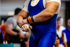 Male hands athlete powerlifter stock images