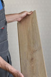 Male hands of a carpenter Royalty Free Stock Photo