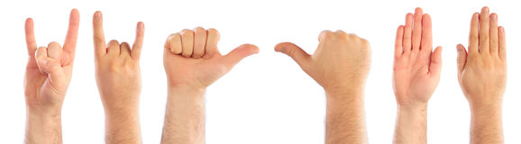 Male hands counting Royalty Free Stock Photography