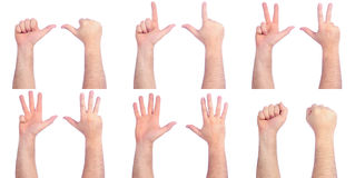 Male hands counting Royalty Free Stock Image