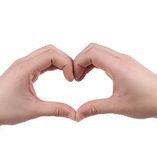 Male hands in the form of heart. Royalty Free Stock Images