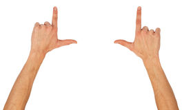 Male hands framing comosition Stock Photography