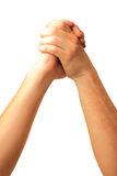 Male hands happy success Royalty Free Stock Images