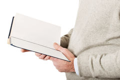 Male hands holding a book Stock Photos