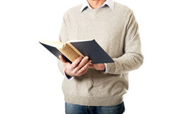 Male hands holding a book Royalty Free Stock Photo