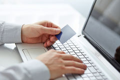 Male hands holding credit card Royalty Free Stock Photo