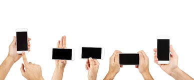 Male hands holding smartphone Royalty Free Stock Photos