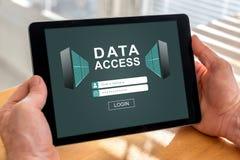 Data access concept on a tablet Royalty Free Stock Photos