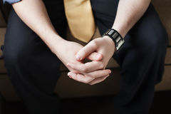 Male hands Stock Images