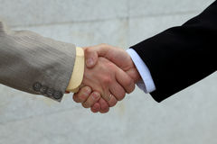 Male handshake Royalty Free Stock Photos