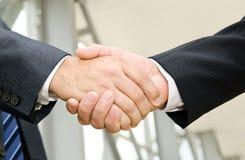 Male handshake Stock Photography