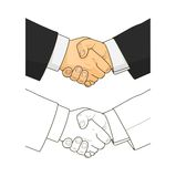Male handshake Stock Photos