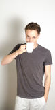 Male having coffee Royalty Free Stock Photo