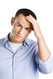 Male having headache Stock Images