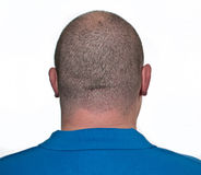Male head close up from behind. Photo male head close up from behind Royalty Free Stock Images