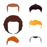 Male head with haircut assortment Stock Photo