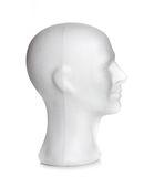 Male head of styrofoam Royalty Free Stock Images
