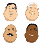 Male heads fat Stock Photos