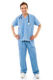 Male Healthcare Worker. Stock image of male healthcare worker isolated on white background Royalty Free Stock Photos