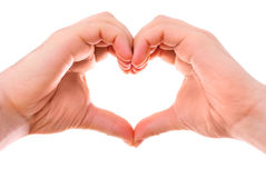 Male heart hands Royalty Free Stock Photography