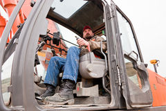 Heavy Machine Operator Royalty Free Stock Photography