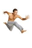 Male hero flying Stock Image