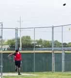 High school athlete throwing discus stock images